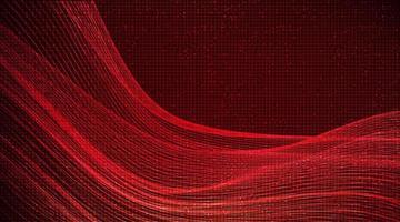 onda sonora digital em fundo de tecnologia dinâmica. vetor