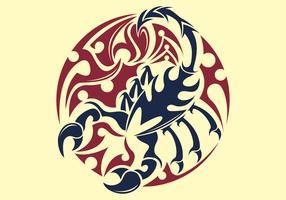 Tatto Do Escorpião vetor