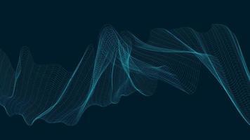 onda sonora digital de néon em fundo azul escuro, tecnologia e conceito de diagrama de onda de terremoto, design para estúdio de música e ciência, ilustração vetorial. vetor