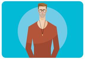 Homem Jovem T-Shirt Modelo Vecor vetor