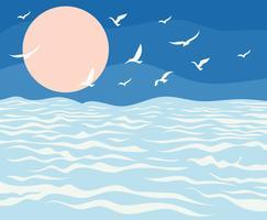 Ilustração de alto mar vetor