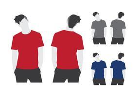 Modelo de camiseta em branco vetor