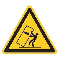 dica de esmagamento do corpo sobre o sinal do símbolo de perigo, ilustração vetorial, isolado na etiqueta de fundo branco .eps10 vetor