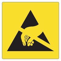 sinal de símbolo esd dispositivo eletrostático sensível, ilustração vetorial, isolado na etiqueta de fundo branco .eps10 vetor