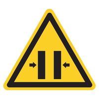 sinal de símbolo de fechamento de perigo de esmagamento, ilustração vetorial, isolado na etiqueta de fundo branco .eps10 vetor