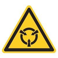 dispositivo sensível à eletrostática esd símbolo sinal, ilustração vetorial, isolado no fundo branco etiqueta .eps10 vetor