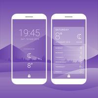 Vetor de interface de telas de clima