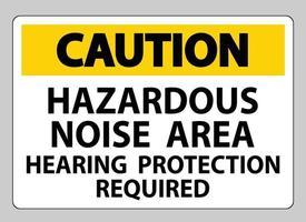 atenção sinal de proteção auditiva área de ruído perigoso necessária