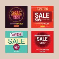 Conjunto de venda modelo de Instagram Design para venda promoção vetor