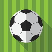bola de futebol com fundo de padrão de campo de futebol vetor