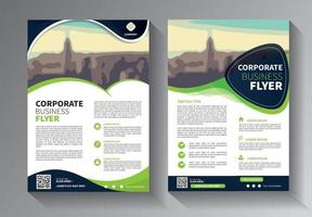 design de brochura, layout moderno de capa, relatório anual, pôster, folheto em a4 com triângulos coloridos, formas geométricas para tecnologia, ciência, mercado com fundo claro vetor