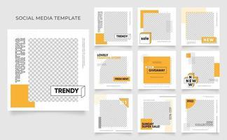 mídia social modelo banner blog promoção de venda de moda. vetor