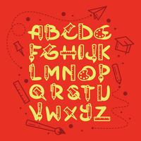Alfabeto Temático Escolar vetor