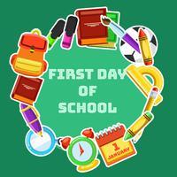 Primeiro dia de aula vetor