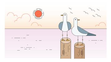 Vetor de gaivotas