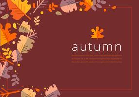 Ilustração de temporada de outono vetor