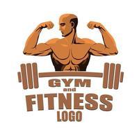 logotipo de fitness cinza escuro isolado no fundo wiet vetor