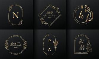 coleção de design de logotipo de luxo para branding, vetor livre de identidade corporativa