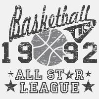 basquete allstar grunge cinza vetor