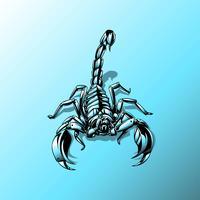 Vetor de tatuagem de robô escorpião