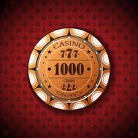 ficha de pôquer novo 1000 vetor