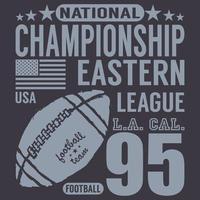 futebol da liga oriental azul escuro vetor
