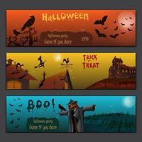 cartões de halloween v2 vetor