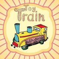 trem de brinquedo retrô vetor