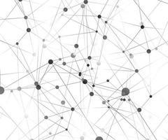 molécula de fundo gráfico geométrico e comunicação. complexo de big data com compostos. cenário de perspectiva. visualização digital de dados. ilustração científica do vetor cibernético.