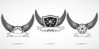 rótulos de asas v1 vetor