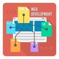 Desenvolvimento web vetor