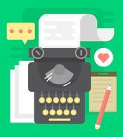 Máquina de escrever vetor