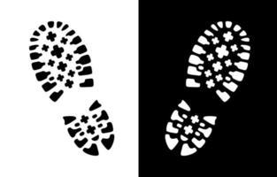 sinal de vetor de impressão de sapato