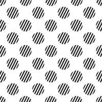 listra de bolinhas sem costura padrão branco vetor