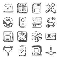 hardware e acessórios vetor