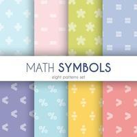 conjunto de padrões de símbolos matemáticos vetor