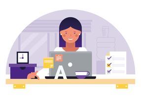Ilustração de Desktop Vector Designer