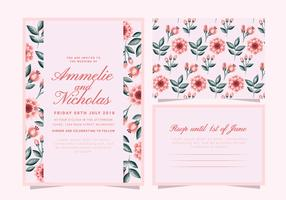 Convite floral do casamento vetor