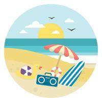 Paisagem praia vetor