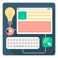 Designer de Web vetor