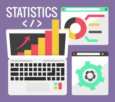 Estatísticas da Web vetor