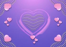 fundo abstrato do coração vetor