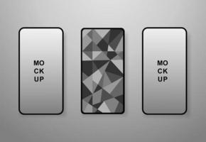 maquete de celular em design vitral vetor