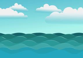 Ilustração vetorial de alto mar vetor