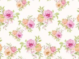 design de modelo de conceito floral padrão sem emenda para têxteis e papel de parede vetor