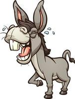 zurrando de burro de desenho animado vetor
