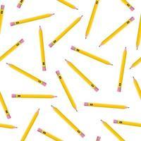 padrão sem emenda de desenho vetorial com lápis simples sobre fundo branco para web, impressão, textura de pano ou papel de parede. vetor