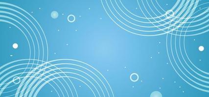 fundo abstrato círculos azuis ou banner vetor