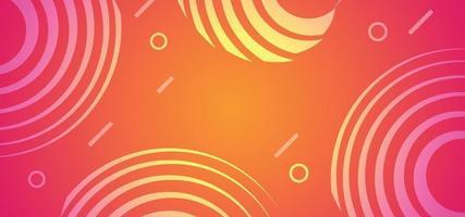 banner ou plano de fundo de tecnologia de círculos abstratos vetor