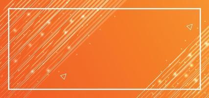 fundo bonito de linhas laranja ou banner vetor